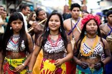 """Mujeres de la etnia Emberá"" by Ayaita - Own work. Licensed under Creative Commons Attribution 3.0 via Wikimedia Commons - http://commons.wikimedia.org/wiki/File:Mujeres_de_la_etnia_Ember%C3%A1.jpg#mediaviewer/File:Mujeres_de_la_etnia_Ember%C3%A1.jpg"