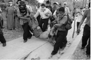 February 6th 2012, Ngöbe- Buglé carrying the corpse of a protester in San Felix, Chiriquí, Panama. Source: Orgun Wagua; distributed by otramerica.com