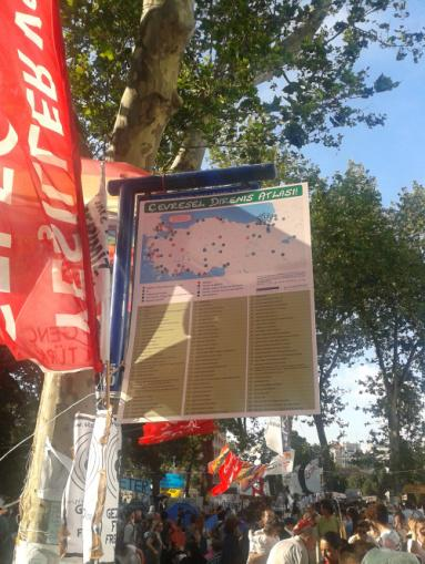 Map in Gezi Park