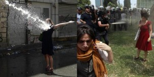 Left: Woman in Black, Photo: Anonymous, Source: http://occupygezipics.tumblr.com/ Right: Woman in Red, Photo: Osman Orsal, Reuters